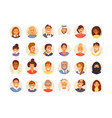 avatars large set vector image vector image
