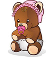 baby teddy bear cartoon character vector image