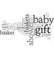 bashower gift baskets gifts for perfect vector image vector image