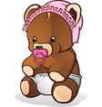 bateddy bear cartoon character vector image vector image