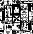 Black and white graphic pattern vector image vector image
