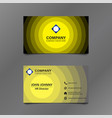 black and yellow stack circle business card vector image vector image