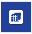 blue round button for abstract aggregation cube vector image