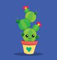 cactus hug me 03 vector image vector image