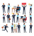 cartoon business persons businessman professional vector image
