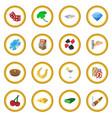 casino cartoon icon circle vector image vector image