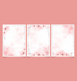 cherry blossom watercolor with brown frame for vector image