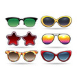 colored sunglasses with reflection vector image vector image