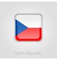 Czech Republic flag button vector image vector image