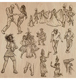 Dancers - Hand drawn pack vector image vector image