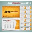Desk Calendar 2016 Design Template with triangular vector image