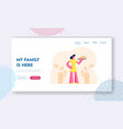 domestic food website landing page young woman vector image