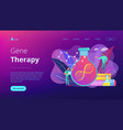 gene therapy concept landing page vector image vector image