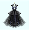 gorgeous party dress vector image vector image