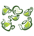 green tea forms symbols and images vector image vector image