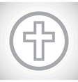 Grey christian cross sign icon vector image vector image