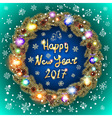 Happy 2017 New Year text for greeting card Golden vector image vector image