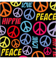 hippie peace symbol background vector image vector image