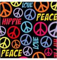 hippie peace symbol background vector image vector image