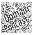 how to make a podcast Word Cloud Concept vector image vector image