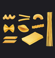 italian pasta realistic icon traditional food vector image vector image