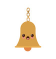 kawaii school bells chain hang alarm icon vector image