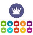 kievan rus crown icons set color vector image vector image