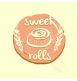 Logo template for confectionery bakery Sweet vector image vector image