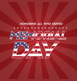 memorial day background flag american vector image vector image