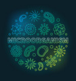 microorganism colored circular outline vector image