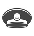 monochrome captain cap icon vector image vector image