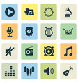 music icons set collection of instrument music vector image vector image