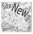new mexico camping Word Cloud Concept vector image