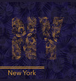 new york palm leaves background vector image