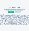 Organic farm header vector image