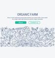 Organic farm header vector image vector image