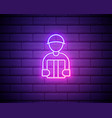 package courier neon sign delivery promotion vector image vector image