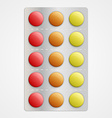 Realistic 3D medical pills in blister pack vector image