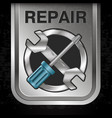 repair with tool banner vector image vector image