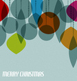 Retro Christmas card with christmas decorations vector image vector image