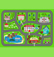 road play mat for children activity entertainment vector image vector image