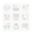 set of electronics icons and concepts in mono vector image vector image