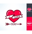 Set of i love you hipster design with vector image vector image
