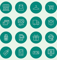 Set of Thin Line Business and Shopping Icons vector image