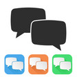 speech bubbles colored icons vector image vector image
