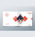square brochure design corporate business vector image vector image