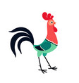 standing cartoon rooster vector image