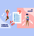 successful education planning flat concept vector image