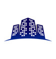 urban commercial building cty skyline symbol vector image vector image