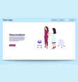 vaccination webpage template with isometric vector image vector image